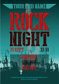 ROCK NIGHT - POSTER