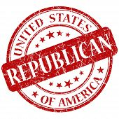 Republican Red Stamp