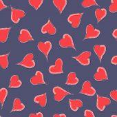 Seamless Texture Of Hearts Valentine
