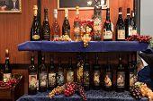 Italian Wine Bottles On Display At Bit 2014, International Tourism Exchange In Milan, Italy