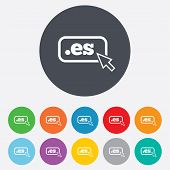 Domain ES sign icon. Top-level internet domain