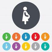 Pregnant sign icon