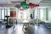 picture of radiation therapy  - Modern physiotherapy center with new professional machines - JPG