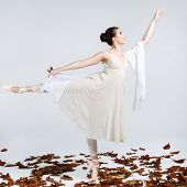 Beautiful young ballet dancer