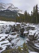 Athabasca Falls Frozen