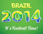Brazilian 2014 World Cup. Vector illustration for sport event