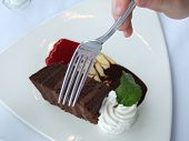 Chocolate Cake And Fork