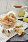 Fresh Cantuccini With Pistachios