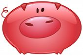 Cartoon pig icon