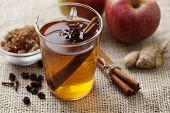 foto of punch  - hot apple punch with cinnamon - JPG
