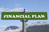 Financial plan road sign