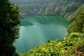azores lake of sao goncalo in sao miguel island