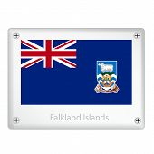 A Falkland Islands Flags On Metal Plate