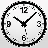 Analog clock icon, vector illustration
