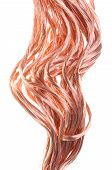 Red copper wires