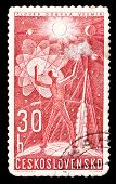 Czechoslovakia Stamp, Space Research