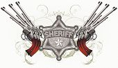 stock photo of sherif  - background with sheriff - JPG