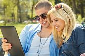 Young Couple Tablet PC
