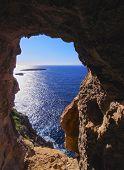 Cave On Cavalleria Cape Of Minorca