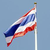 Thai Flag And Bule Sky