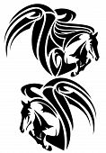 picture of pegasus  - winged horses emblem  - JPG
