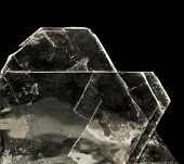 stock photo of calcite  - crystal of mica muscovite  - JPG