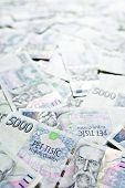 a lot of czech money background