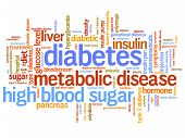 foto of diabetes  - Diabetes illness concepts word cloud illustration - JPG