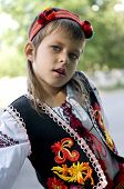 stock photo of national costume  - Ukrainian girl is dressed in national costume - JPG
