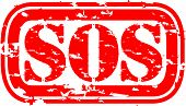 picture of sos  - Grunge sos rubber - JPG