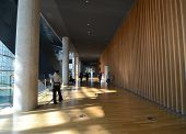 Tokyo, Japan - November 23, 2013 : People Visit National Art Center In Tokyo, Japan