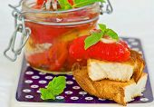picture of marinade  - marinaded in Italian sweet pepper on crackling bread - JPG