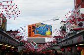 Shopping street at Asakusa Temple