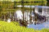 Picture Lake Abstract Mount Shuksan Washington Usa