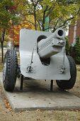 Old canon. This is M1918 155mm Howitzer was used in both WWI and WWII