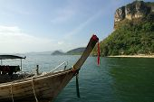 Traditional Thai Boat On The Beach, Krabi Province, Thailand