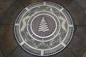 Plaque at the place of 81st Christmas Tree Lighting at Rockefeller Center