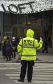 NYPD Traffic Control Police Officer near Times Square in Manhattan
