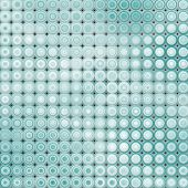 3D Abstract Tiled Bubble Background In Blue White
