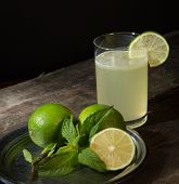 Drink Of Lemon And Mint.