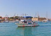 Local Boat Line In Trogir, Croatia