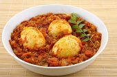 picture of kadai  - Egg roast curry a popular egg dish from Asian cuisine. ** Note: Visible grain at 100%, best at smaller sizes - JPG