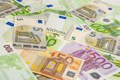 Currency Concept: Incoherent Heap Of European Banknotes Currency