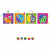 cute robots collection greeting card