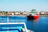 Keramoti, Greece - April 29: The Thassos Ferry Going To Thassos Island On April 29, 2012 In Keramoti
