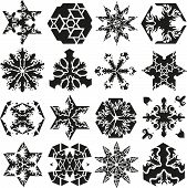 collection of ornament vector stars and snowflakes