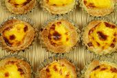 stock photo of pasteis  - Traditional Lisbon egg tarts  - JPG