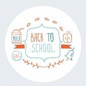 Back To School Background Cute Sketch Style