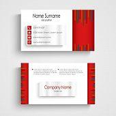 Modern Red Light Business Card Template