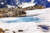 Mount Shuksan Blue Snow Pool Artist Point Washington Usa
